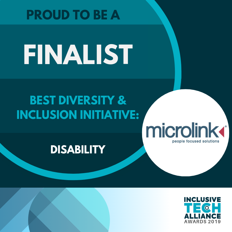 proud to be a finalist in the Best Diversity and Inclusion Initiative: Disability