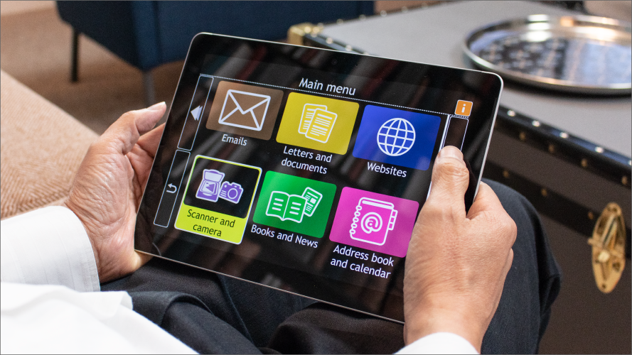 using GuideConnect on tablet