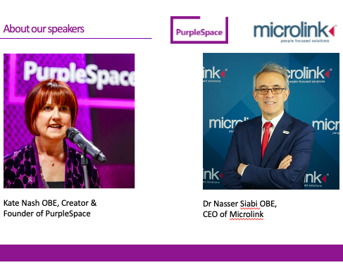 Picture of Nasser Siabi CEO at Microlink and Kate Nash founder of PurpleSpace