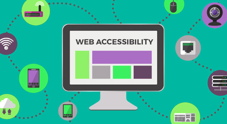 animated picture of a monitor with web accessibility written on it