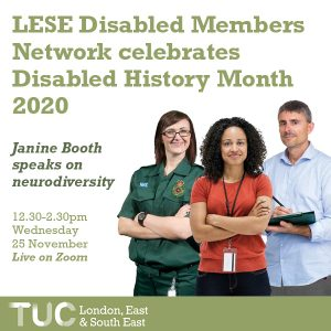 LESE Disabled Members Network celebrate Disabled History Month