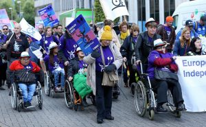 March for 'Rights of Persons with Disabilities' in Brussels 2019.