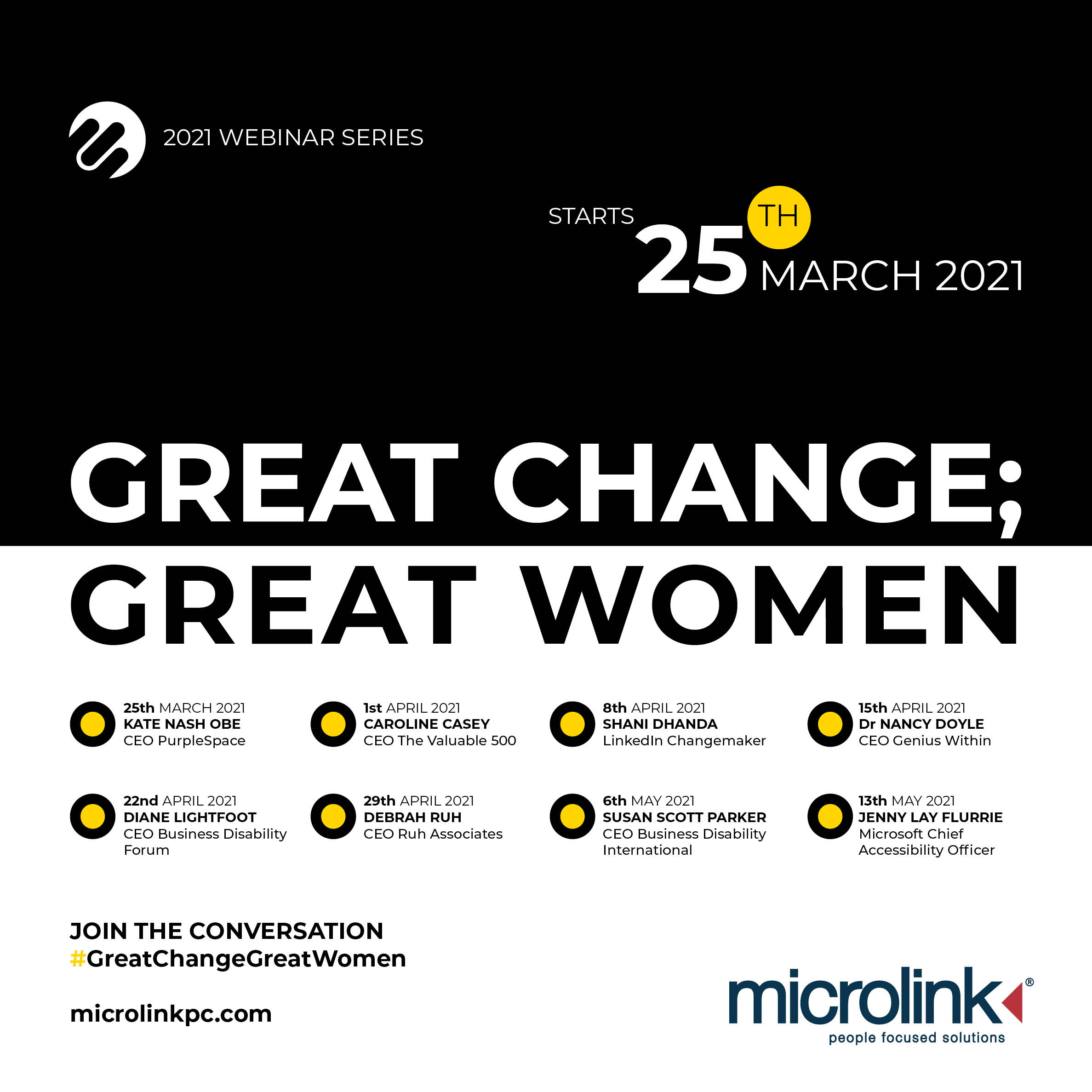 great change great women webinar series