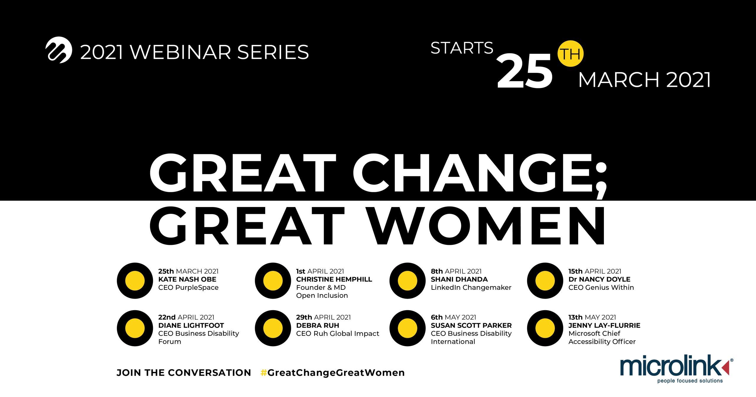 great change great women webinar series
