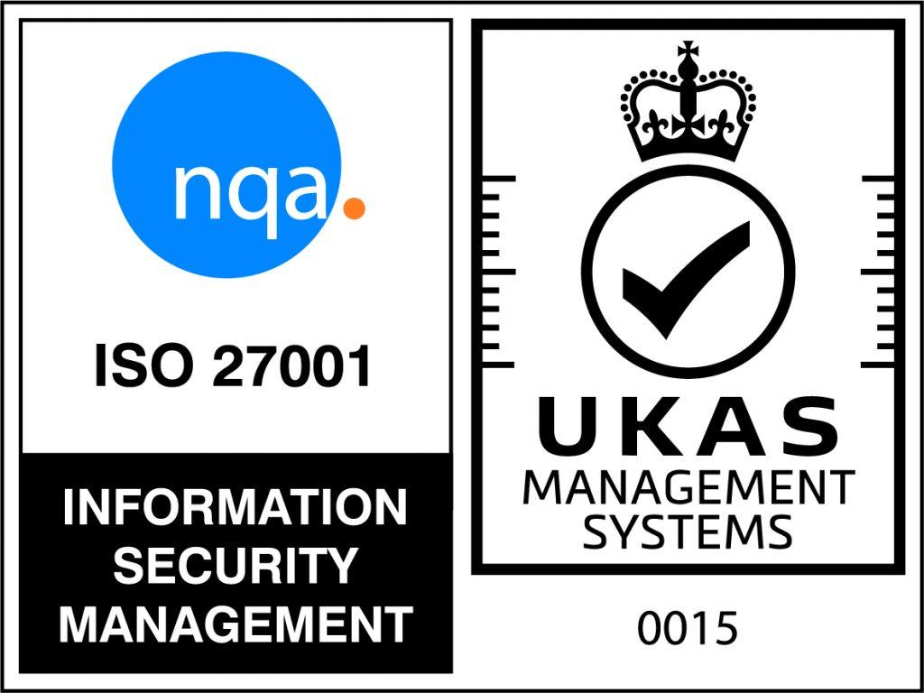 NQA ISO 27001 Logo - UKAS