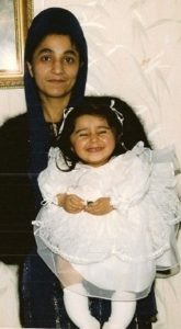 Shani and her mum, aged 2