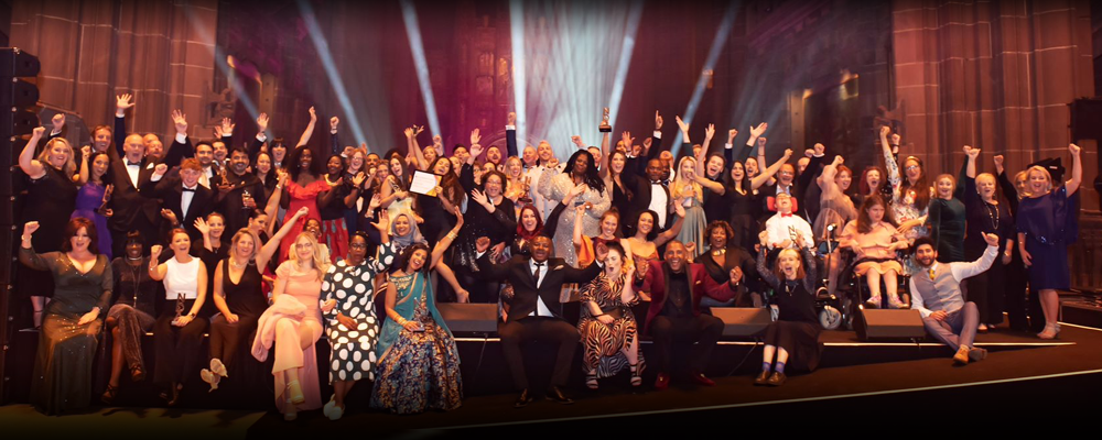 a crowd at National Diversity Awards 2020
